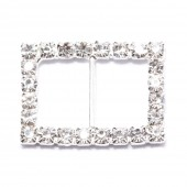 GLITTERING RHINESTONE RECTANGLE BUCKLE 104