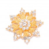 GOLD DIAMANTE STAR FLAT BACK 541 G