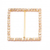 GOLD SQUARE BUCKLE RHINESTONE CHAIR SASH 202 G