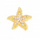 GOLD STARFISH RHINESTONE FLAT BACK 545 G