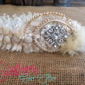 Something Old to Something New - Send us pieces of your Grandmothers/mothers wedding gown and we make it into your garter