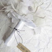 White Feather Brides Bouquet