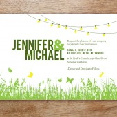 Garden Party Printable Wedding Invitation