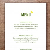 Garden Party Printable Wedding Menu