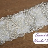 Georgette Bridal Sash - SparkleSM Bridal Sashes