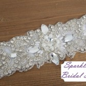 Georgia Bridal Sash - SparkleSM Bridal Sashes