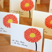 Gerbera Dais Place Cards