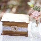 Burlap and Lace Jewelry Box