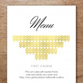 Printable Menu Template - Glamorous Gold