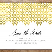 Save the Date Template - Glamorous Gold