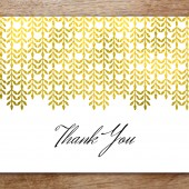 Printable Thank You Card - Glamorous Gold