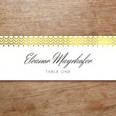 Place Card Template - Glamorous Gold