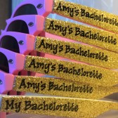 Personalized Glitter Bachelorette Sunglasses