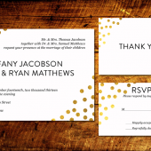 Gold Confetti Invitation Suite