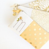 Gold Wedding Monogram Clutches
