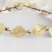 Gold Leaf Headband, Goddess Halo, Leaves Crown, Bridal Head Wreath, Leaves Tiara Crown, Gold Headband, Gold Hair Crown, Leaves Head Piece