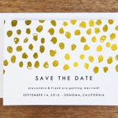 Save the Date Template - Gold Dots