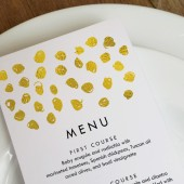 Wedding Menu Template - Gold Dots