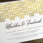 Wedding Invitation Template - Glamorous Gold