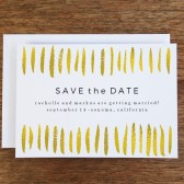 Printable Save the Date Template - Gold Strokes