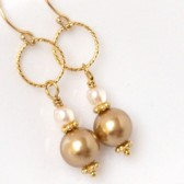 Golden Baroness Bridal Earrings