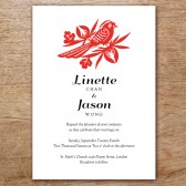 GongXi Printable Wedding Invitation