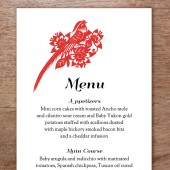 GongXi Printable Wedding Menu