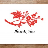 GongXi Printable Thank You Card