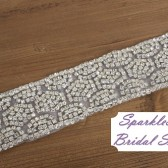Gracie Bridal Sash - SparkleSM Bridal Sashes