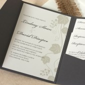 Grape Vine Wedding Invitation