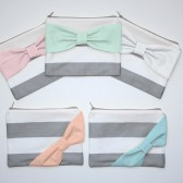Bridesmaid Gift - New Chevron Mint Bow