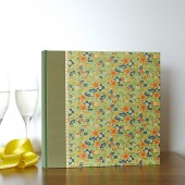 Photo Album Green Vintage Flowers