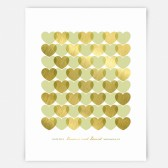 Faux Gold Wedding Anniversary Wall Art