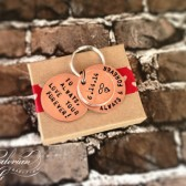Groom-Bride Gift Penny Keychain with Custom Love Note