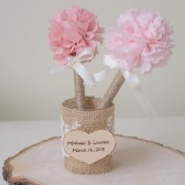 Guest Pen, Pen holder, Rustic, Burlap, Wedding Guest Book Pen Holder