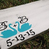 Swan Guest Book wood sign