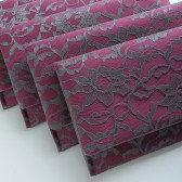 Gunmetal Lace and Berry Satin Amelia Clutches