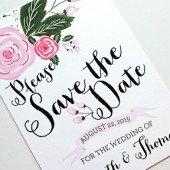 Gwen Whimsical Rustic Hand Drawn Style Blossom Save The Date