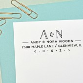 Return Address Stamp, Self Inking Address Stamp, Custom Address Stamp, Monogram, Housewarming Gift, H116