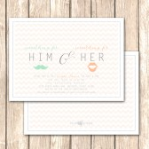 His and Hers Shower Invitation