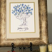 Whomping Willow Thumbprint Tree Guestbook
