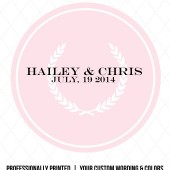 Hailey Floral Modern Wreath Favor Labels
