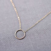 14K Gold Halo Necklace