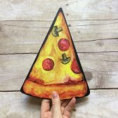 Plastic Pizza Slice Photo Prop