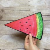 Plastic Watermelon Photo Prop