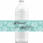 Hannah Vintage Modern Water Bottle Labels