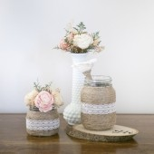 Twine and Lace Guest Book Accessories Set