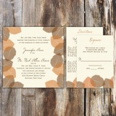 The Autumn Leaves Wedding Invitation