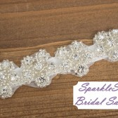 Hattie Bridal Sash - SparkleSM Bridal Sashes