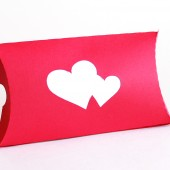 Double heart pillow favor box